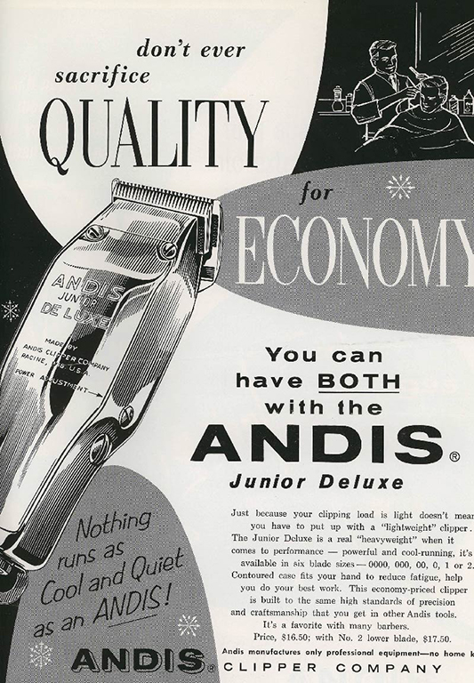 Andis Clipper quality ad